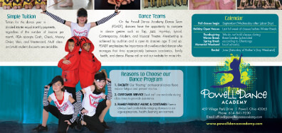 Powell Dance Academy print graphic design