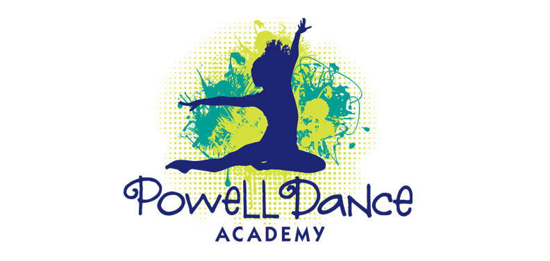 Marketing graphic design logo for Powell Dance Academy