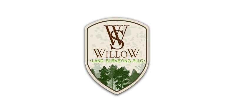 Willow Land Surveying Graphic design logo